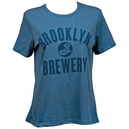 Brooklyn Brewery Women's Blue Varsity T-Shirt