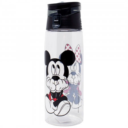 Disney Mickey and Minnie Mouse Flip Top Water Bottle