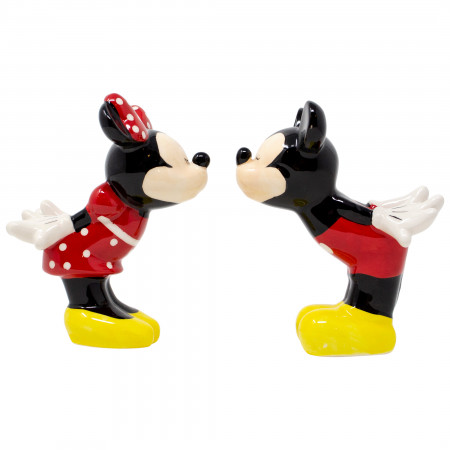 Disney Mickey and Minnie Kissing Salt and Pepper Shakers