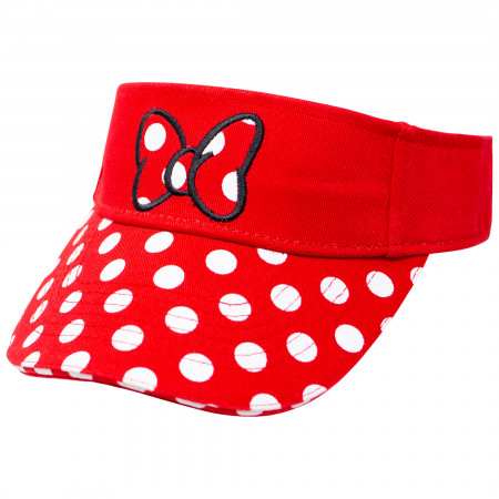 Minnie Mouse Disney Red Polka Dot Visor Hat