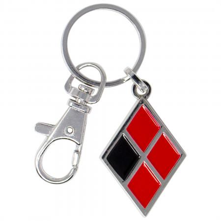 Harley Quinn Diamond Symbol Enamel Keychain