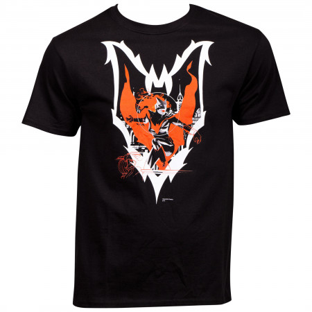 Batwoman Character Action Pose Inside Symbol T-Shirt