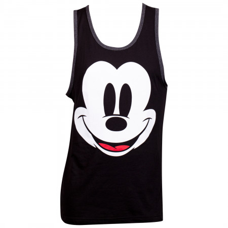 Mickey Mouse Black Sleeveless Tank Top