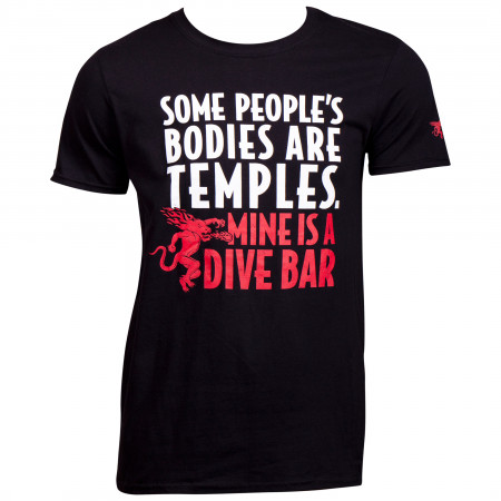 Fireball Whisky Dive Bar Men's T-Shirt