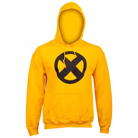 Marvel X-Men Symbol Logo Gold Hoodie