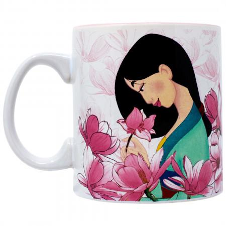 Disney Mulan Flowers 20 Ounce Ceramic Mug