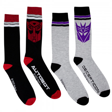 Transformers Decepticon and Autobot 2-Pack Socks