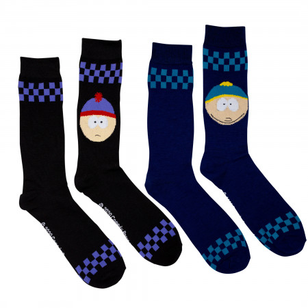 South Park Cartman and Stan 2-Pack Socks