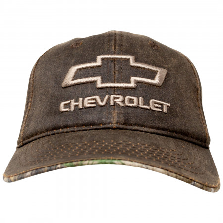 Chevrolet Logo Oil Washed Snapback Hat