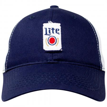 Miller Lite Beer Can Design Adjustable Trucker Hat