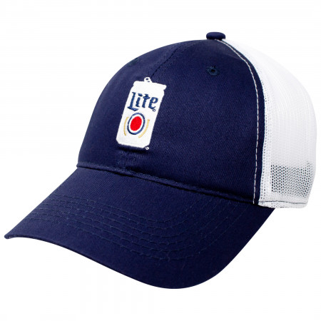 Miller Lite Beer Can Design Adjustable Trucker Hat