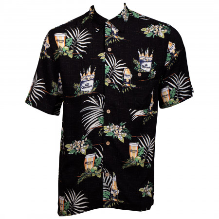 Corona Luxury Hawaiian Button Down Shirt