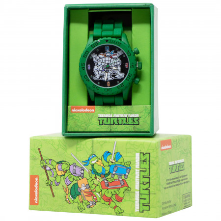 Teenage Mutant Ninja Turtles Green Watch with Rubber Wristband