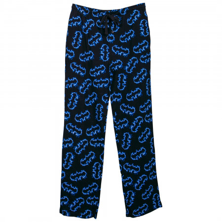 Batman Blue Flames Symbols Sleep Pants