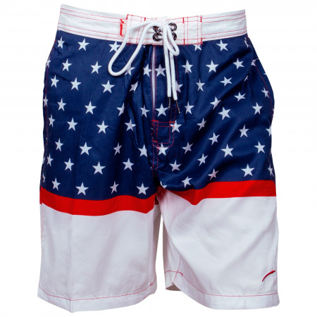 USA Patriotic Horizontal Stars Board Shorts
