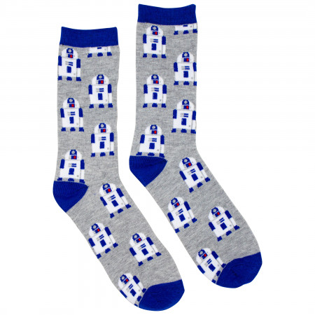 Star Wars R2-D2 and BB-8 All Over Print Crew Socks 2-Pack