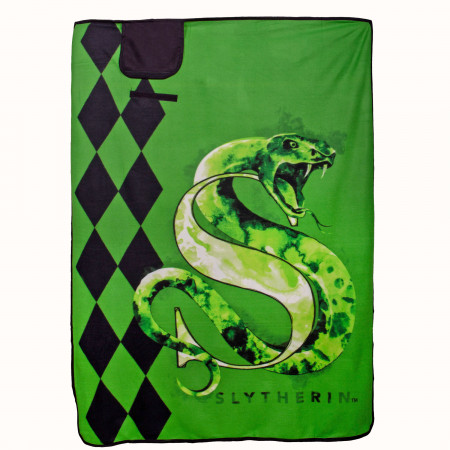 "Harry Potter Slytherin 43"" x 59"" Travel Blanket"