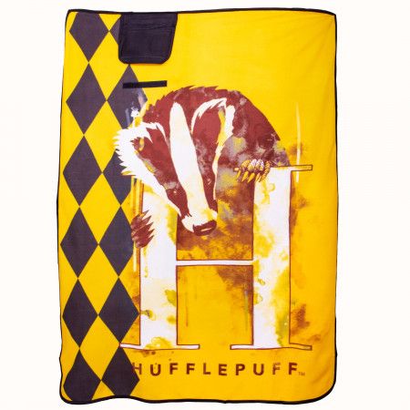 "Harry Potter Hufflepuff 43"" x 59"" Travel Blanket"