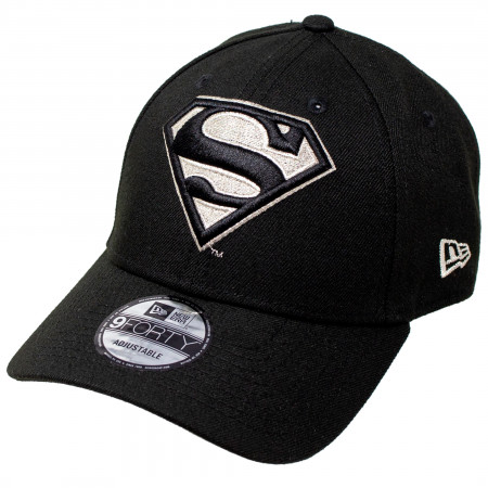Superman Silver Symbol New Era 9Forty Adjustable Hat