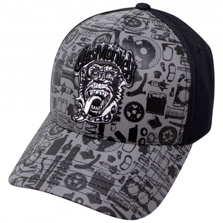Gas Monkey All Over Print Adjustable Snapback Hat