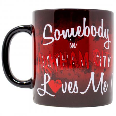 Harley Quinn Somebody in Arkham City Loves Me 15 Ounce Mug