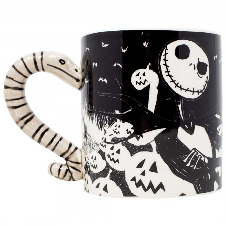 Nightmare Before Christmas Sculpted Handle 20 Ounce Mug