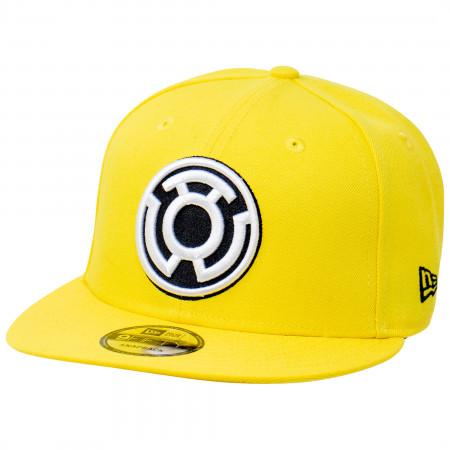 Yellow Lantern Sinestro Corp Color Block New Era 9Fifty Adjustable Hat