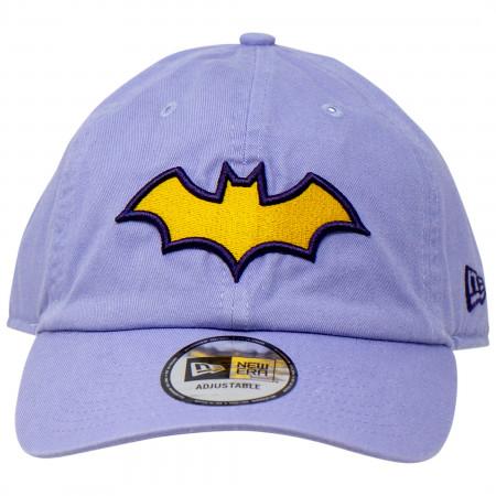 Batgirl Symbol on Lavender New Era Casual Classic Adjustable Hat