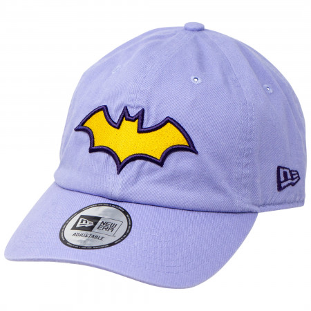 Batgirl Symbol on Lavender New Era Casual Classic Adjustable Hat