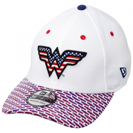 Wonder Woman Red White and Blue Themed New Era 39Thirty Fitted Hat