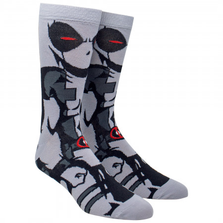 Deadpool X-Force 360 Character Crew Socks
