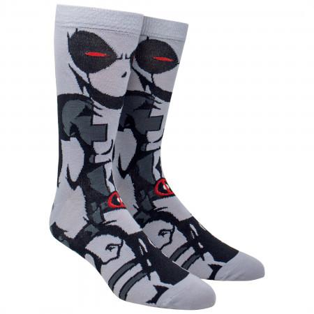 Deadpool X-Force 360 Character Crew Socks
