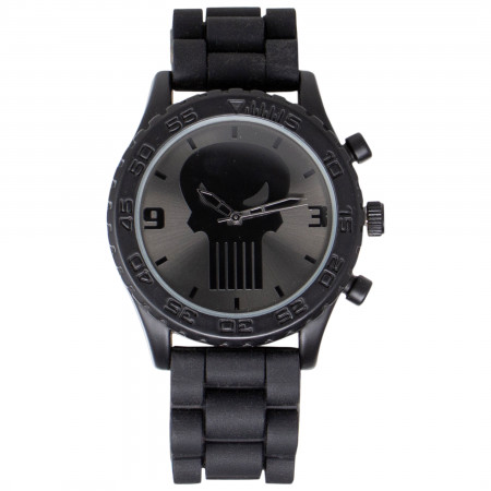 Punisher Dark Skull Symbol Watch