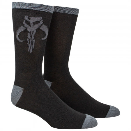 Star Wars The Mandalorian Mythosaur Sigil Crew Socks