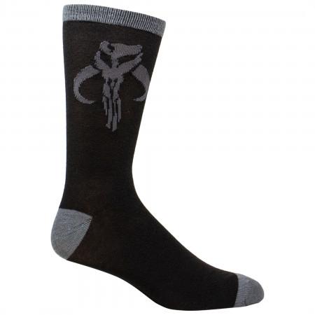 Star Wars The Mandalorian Mythosaur Sigil Crew Socks