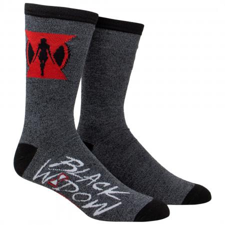 Black Widow Movie Symbol Crew Socks