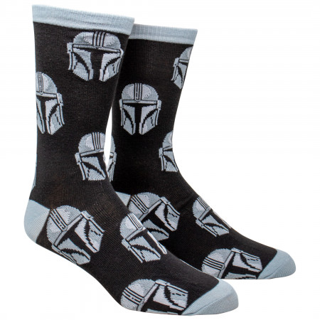 Star Wars The Mandalorian Helmet All Over Print Crew Socks