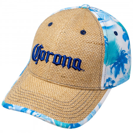 Corona Extra Logo Straw Stitched Adjustable Strapback Hat