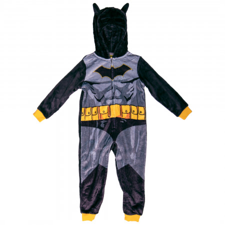 Batman Costume Kids Union Suit with Removable Velcro Cape