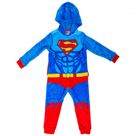 Superman Costume Kids Union Suit with Removable Velcro Cape