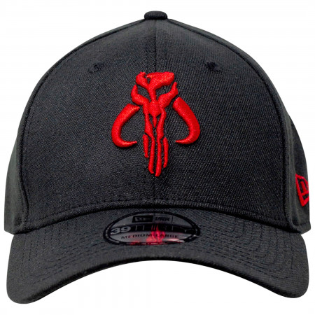Star Wars The Mandalorian Red Mythosaur New Era 39Thirty Fitted Hat