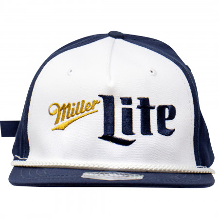 Miller Lite Blue and White Vintage Logo Hat