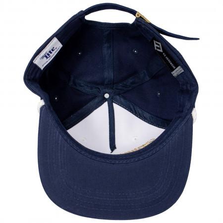 Miller Lite Blue and White Vintage Logo Hat