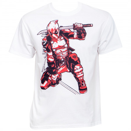 Marvel Deadpool Print Translation T-Shirt