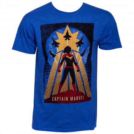 Captain Marvel Silhouette T-Shirt