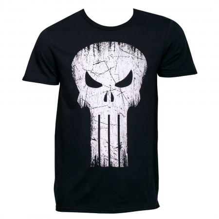Punisher Skull Distressed Logo T-Shirt