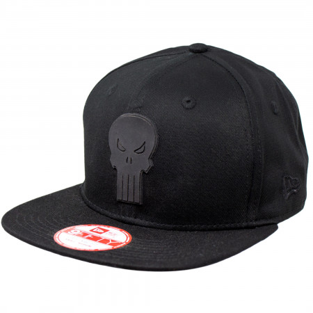 Punisher Symbol Black on Black New Era 9Fifty Adjustable Hat
