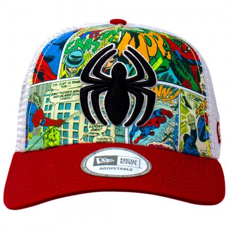 Spider-Man Comic Panel New Era Adjustable Trucker Hat