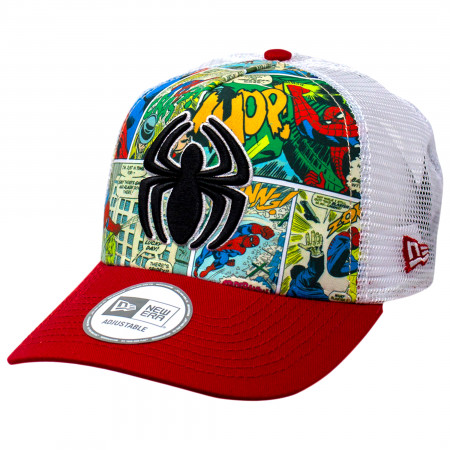 Spider-Man Comic Panel New Era Adjustable Trucker Hat