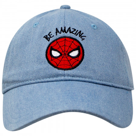Spider-Man Be Amazing Denim Dad Hat